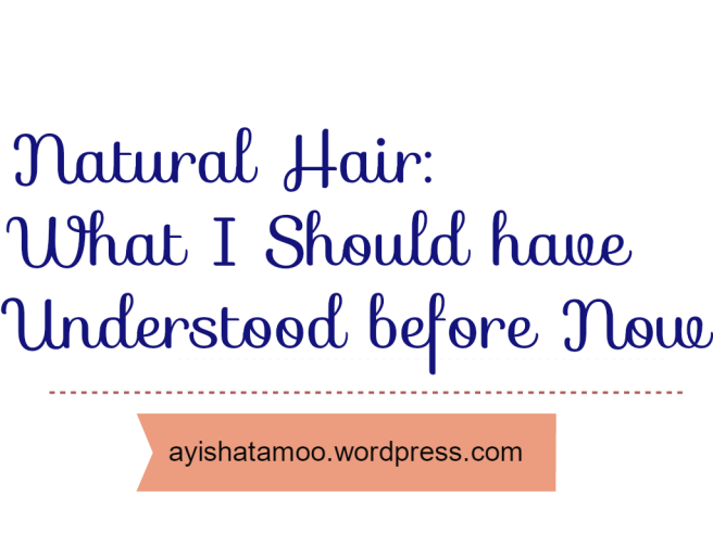 Natural Hair: What I Should have Understood before Now