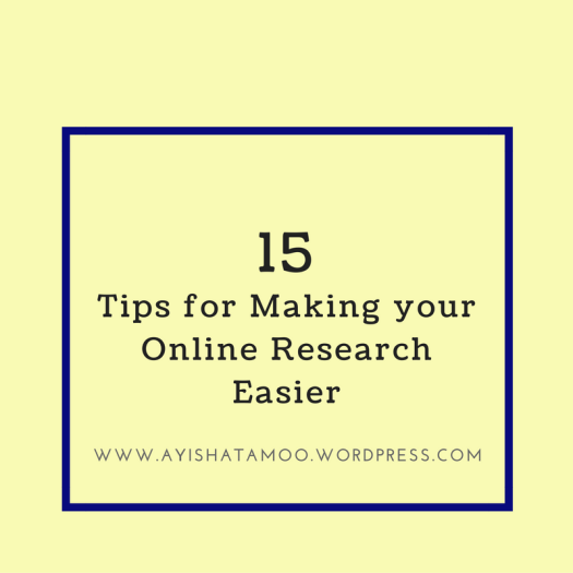 15 Tips for Making your Online Research Easier