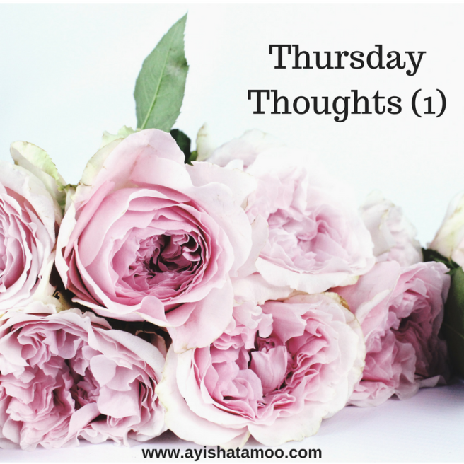 Thursday Thoughts (1)